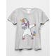 WHITE FAWN Unicorn Dance Girls Tee