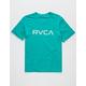 RVCA Big RVCA Teal Blue Boys T-Shirt