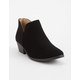 SODA Chop Out Low Black Womens Booties