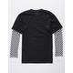 VANS Checker Sleeve 2fer Mens T-Shirt