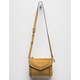 VIOLET RAY Leanna Whipstitch Mustard Crossbody Bag