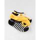 FULL TILT 3 Pack Stripe & Sunflower Womens No Show Socks
