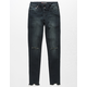 SCISSOR Knit Slit High Waisted Girls Jeans