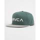 RVCA Twill II Pine Mens Snapback Hat