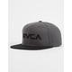 RVCA Twill II Charcoal Mens Snapback Hat