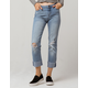 IVY & MAIN Roll Cuff Womens Ripped Jeans