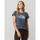 THE NORTH FACE Half Dome Teal Blue Womens Tee