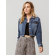 IVY & MAIN Ripped Crop Womens Denim Jacket