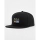 RVCA 9Volt Black Mens Snapback Hat