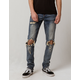 CRYSP DENIM Pacific Mens Ripped Skinny Jeans