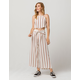 CHANCE Stripe Womens Crop Top And Pants Set