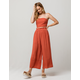 MILEY AND MOLLY Stripe Crop Rust Womens Top And Pants Set
