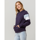 FULL TILT Arm Stripe Navy Womens Hoodie