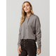SKY AND SPARROW Gray Womens Crop Hoodie