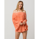 RIP CURL Saltwater Womens Off The Shoulder Romper