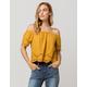 FULL TILT Crochet Mustard Womens Off The Shoulder Top
