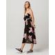 MIMI CHICA Floral Tie Front Midi Dress