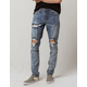 CRYSP Denim Pacific Blue Ripped Mens Skinny Jeans