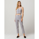 IVY & MAIN Stripe Structured Womens Top And Pants Set