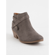 SODA Portia Gray Womens Booties