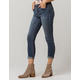SKY AND SPARROW Exposed Button Womens Skinny Jeans