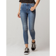 IVY & MAIN Seamed High Waisted Womens Ripped Skinny Jeans