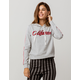 FULL TILT California Womens Crop Hoodie