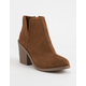 SODA Tarpon Cognac Womens Heeled Booties