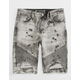 CRYSP Kabi Mens Ripped Denim Shorts
