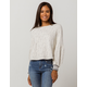 COCO & JAIMESON Lace Knit Womens Top