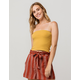 SKY AND SPARROW Basic Ribbed Mustard Womens Tube Top