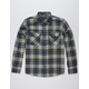 BRIXTON Bowery Navy Mens Flannel Shirt