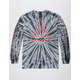 HUF Triple Triangle Black Tie Dye Mens T-Shirt