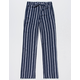 WHITE FAWN Stripe Navy Girls Palazzo Pants