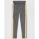 FULL TILT Athletic Side Stripe Grey Girls Leggings