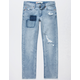 LEVI'S 511 Warp Stretch Light Wash Boys Ripped Jeans
