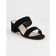 QUPID Katz Black Womens Heeled Sandals