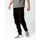 NITROUS BLACK Rooted Mens Cargo Jogger Pants