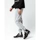 BROOKLYN CLOTH Space Dye Marled Light Gray Mens Jogger Pants