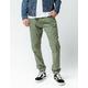 CYA Side Stripe Olive Mens Joggers Pants