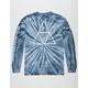 HUF Triple Triangle Blue Tie Dye Mens T-Shirt