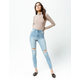 RSQ Super High Rise Light Wash Womens Ripped Jeggings