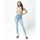 RSQ LA Super High Rise Light Wash Womens Ripped Skinny Jeans