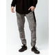 BROOKLYN CLOTH Nylon Black Streak Black & Gray Mens Jogger Pants