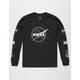 NEON RIOT NASA Symbol Black Boys T-Shirt