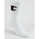 CHAMPION Big C White Mens Crew Socks