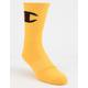 CHAMPION Big C Yellow Mens Crew Socks