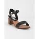 STEVE MADDEN April Black Womens Heeled Sandals