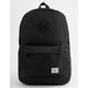 HERSCHEL SUPPLY CO. Heritage Black & Black Backpack