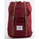 HERSCHEL SUPPLY CO. Retreat Windsor Wine & Tan Backpack